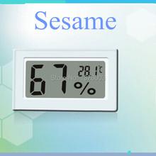 A + + + Top calidad Kostenloser Versand termómetro Digital de interior higrómetro blanco negro temperatura jugo Humididy Tester