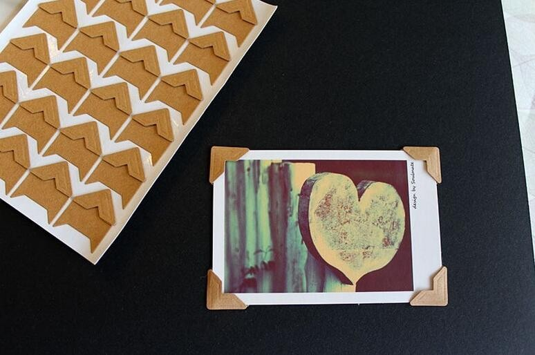 DIY Vintage Corner kraft Paper Stickers120 pcs/lot (5 sheets)  for Photo Albums Frame Decoration Scrapbooking