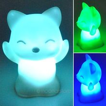 Lovely High Quality Fox Baby Lamp Children Bedroom Night Light Table Lamp Automatically Change in 7 Different Colors A4JJ0064-1(China (Mainland))