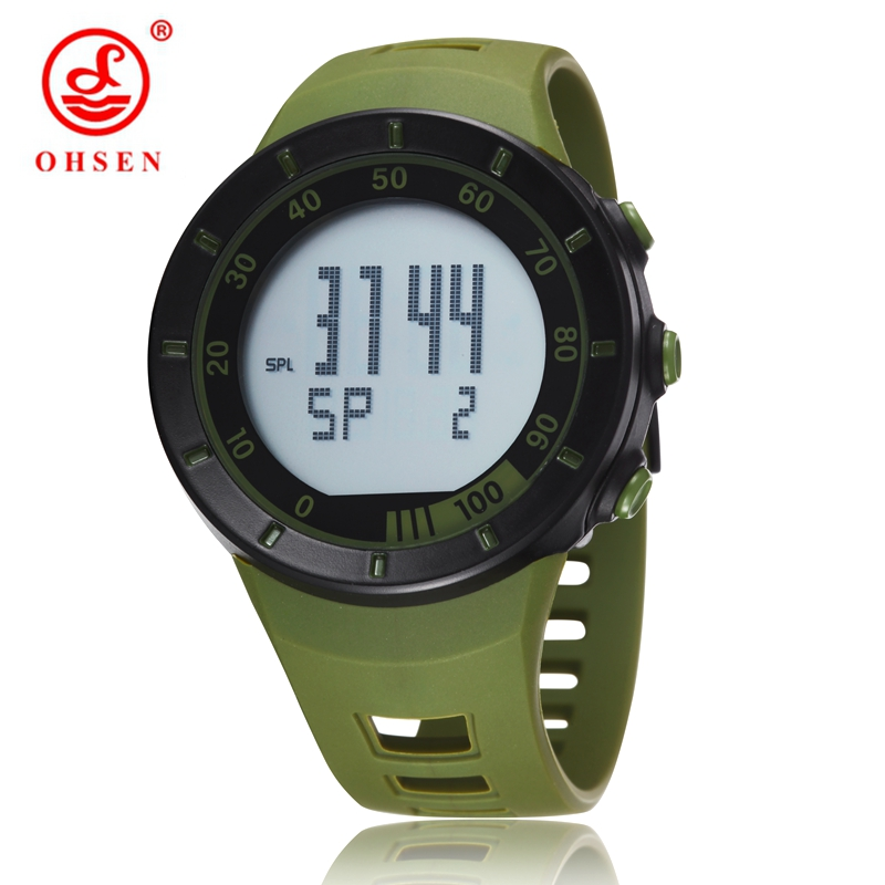 New in 2016 wholesale OHSEN electronic Led diving sport watch men male green army cool wristwatches reloj hombre for gift(China (Mainland))