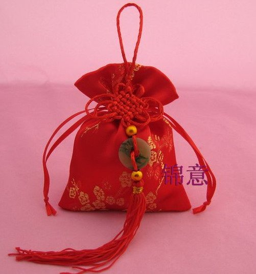 Free shipping 100pcs/lot 13*18cm Chinese Knot Wedding Brocade Favors bags favor gift candy packaging(China (Mainland))