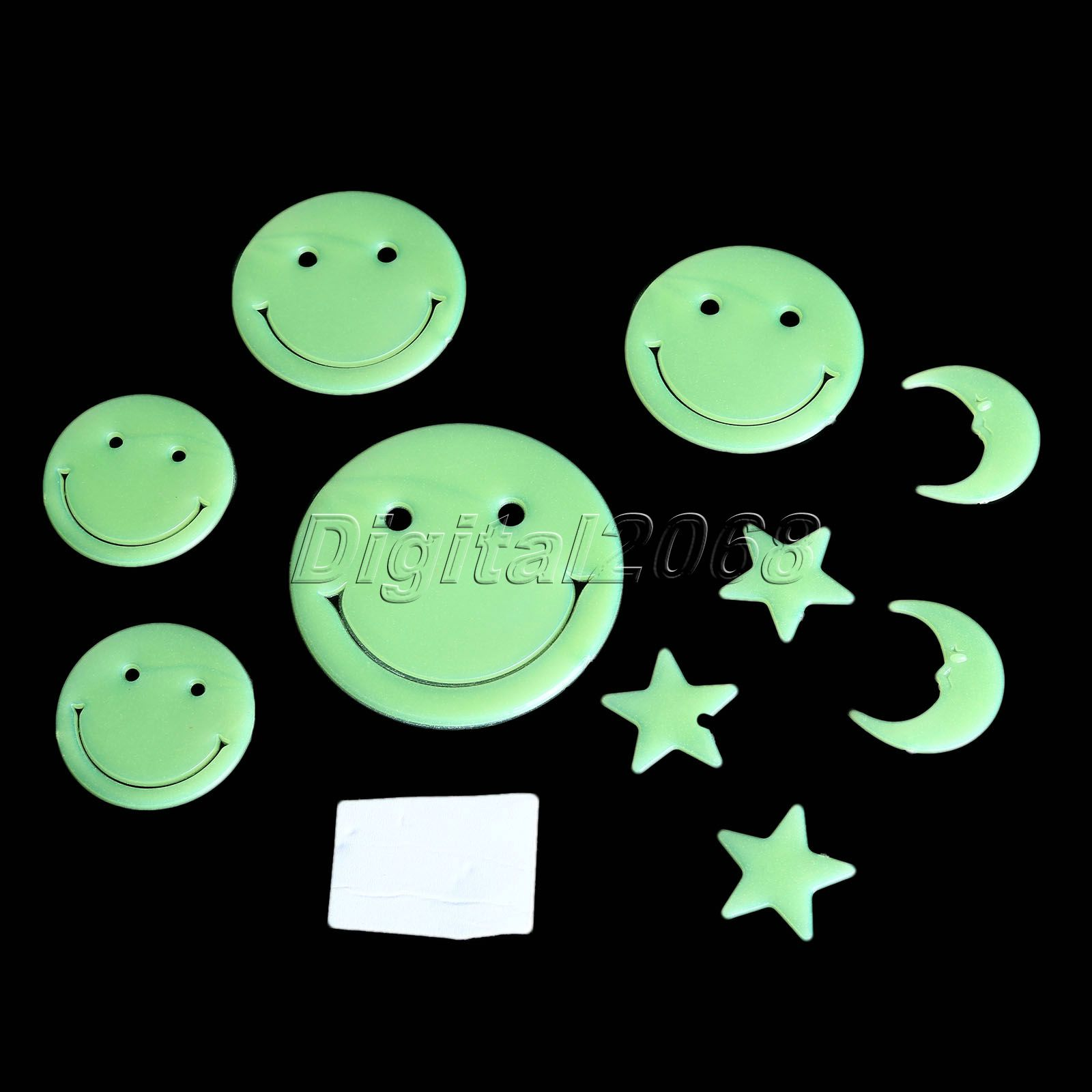 New 1 Set Green Decals House Luminous Grow In Dark Paste Bedroom Wall Ceiling Stickers For Bedrooms, Nursery Rooms, Kid's Room(China (Mainland))