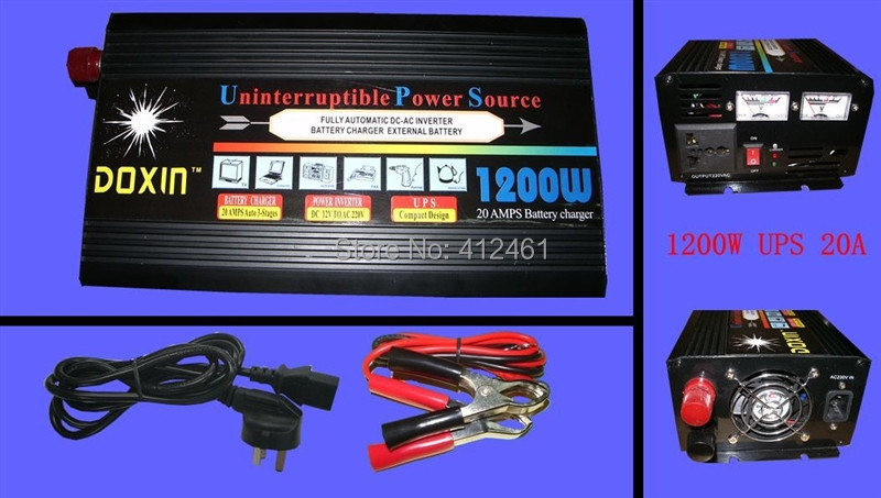 12v 220v solar power inverter 1200w UPS charger portable inverter for home use warranty 3years(China (Mainland))