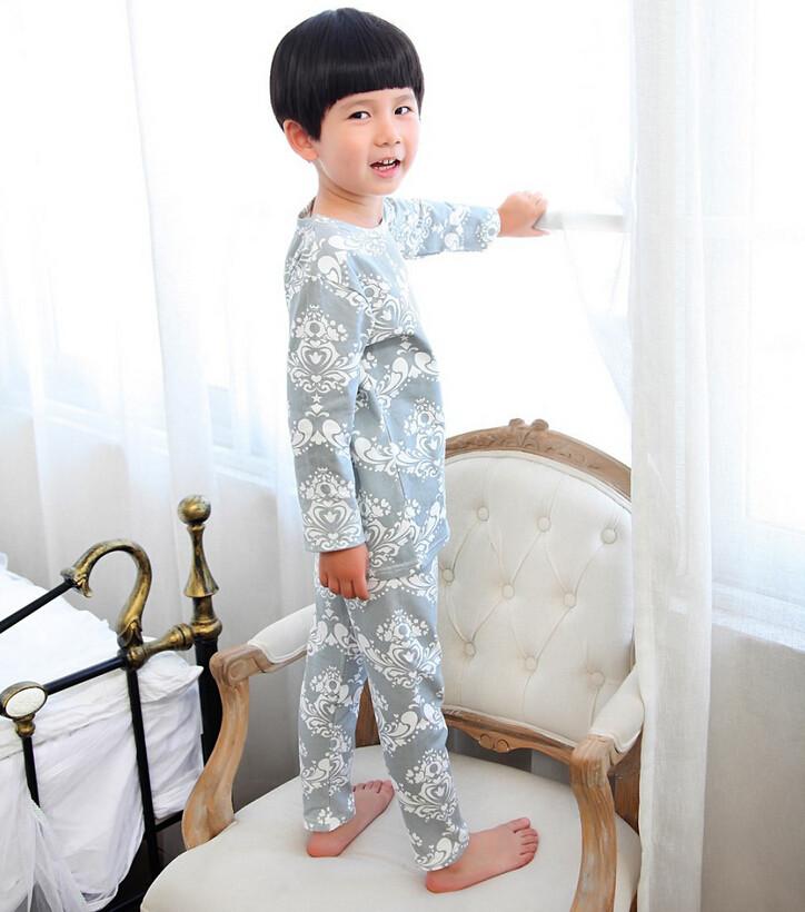Cute Pyjama Children,Pyama Children Boys,Girls Sleepwear,2016 New Cotton Cloth Full Sleeve Home Amusement 2Pcs Sleepwear Go well with 031610 (4)