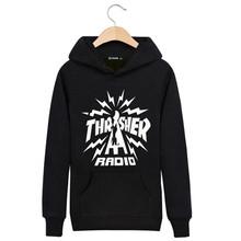 2015 Winter Hedging Thrasher Hoodie Clothing Thin Trasher Sweatshirt Capucha Couple Pentagram hip hop sudaderas hombre Autumn(China (Mainland))