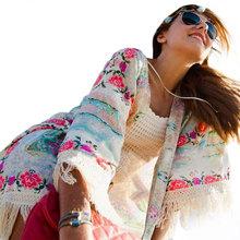 2015 Womens Blouses Summer Chiffon Kimono Cardigan Three Sleeve Ladies Tops Hippie Boho Kimono Floral Women Tops Blouse Shirt(China (Mainland))