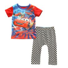 Spider-man Cars Baby Kids Cartoon Homewear Sleepwear Boys Clothes Children's Pajamas set 0-2Year(China (Mainland))