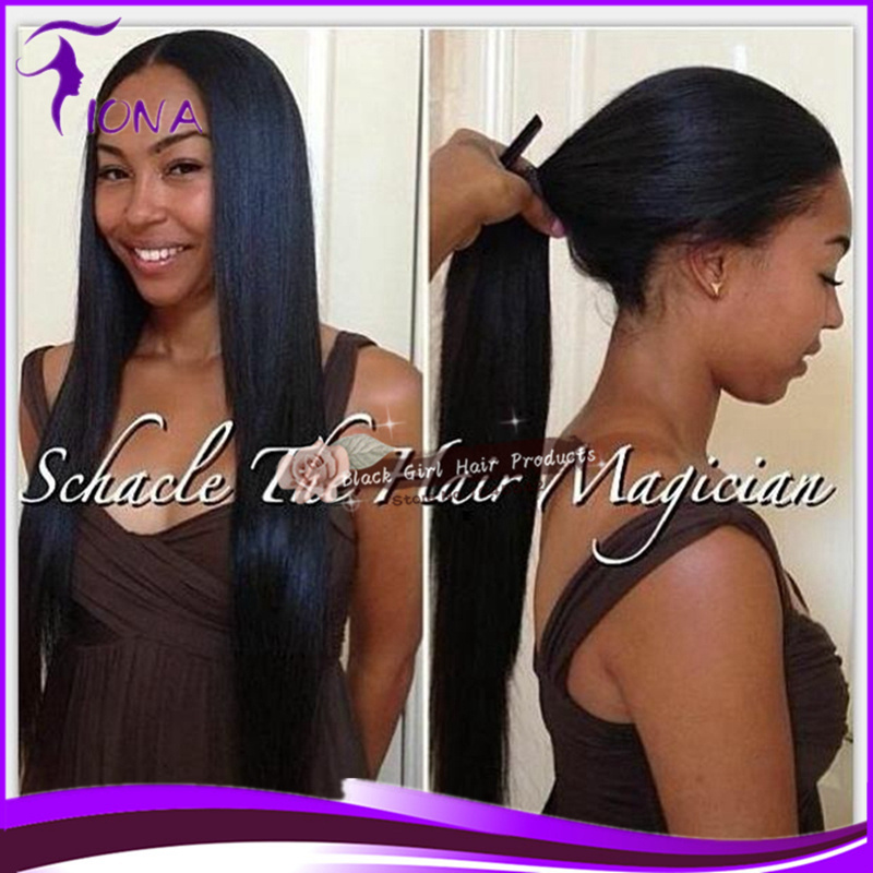 Fashion straight lace front wig human Brazilian hair unprocessed remy wigs for black women can make a ponytail(China (Mainland))