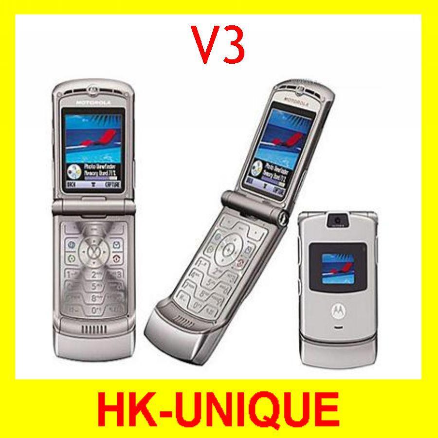 Original Unlocked Motorola RAZR V3 Cell Phones Free Shipping(China (Mainland))