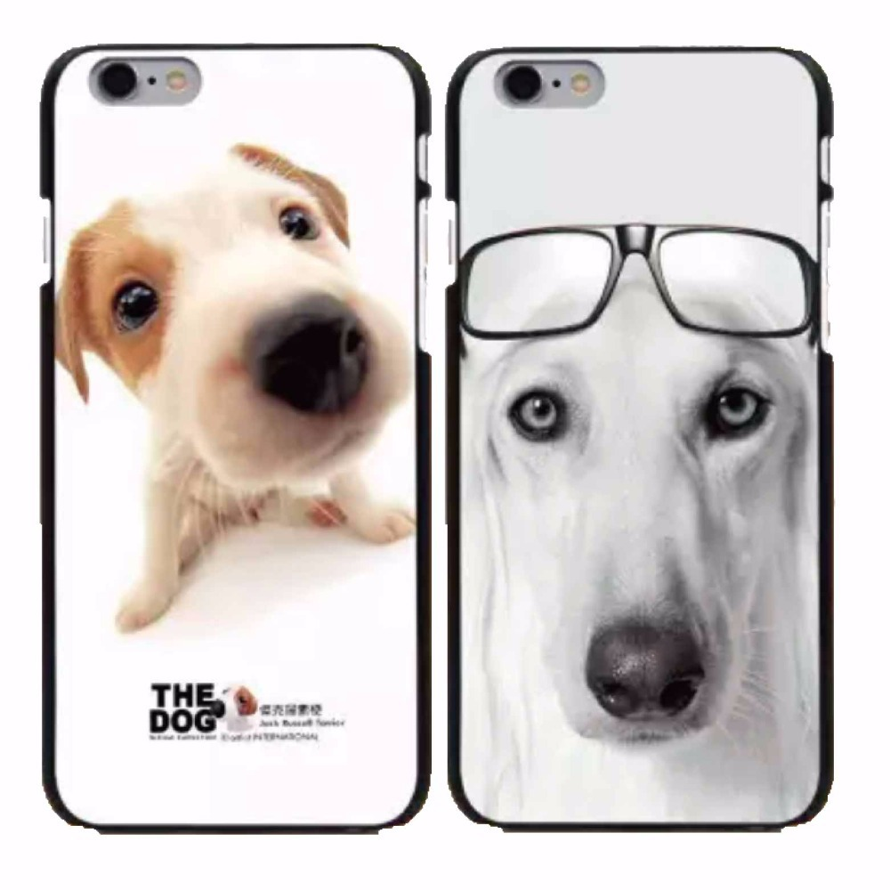 Hard cover case for iphone 4 4s 5 5s 6 6plus painted Lovely pet dog series of mobile phone case.(China (Mainland))
