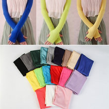 Women Chic Cotton UV Protection Arm Warmer Long Fingerless Gloves Sleeves CA(China (Mainland))