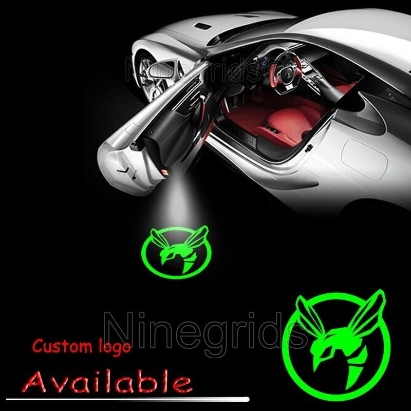 Car Shadow Door Logo Led Laser Welcome Projector Light Lamp for The Green Hornet #2201(China (Mainland))