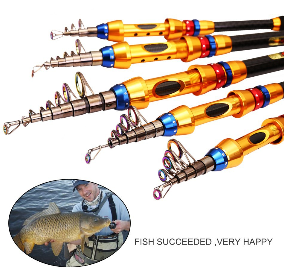 Telescopic fishing rod carbon saltwater sea fishing tackle for Ocean fishing gear