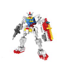 Gundam RX-78 Robot LOZ Diamond Building Blocks Japan Anime Action Figures Best Gift For Boys Mini Bricks Practical Ability