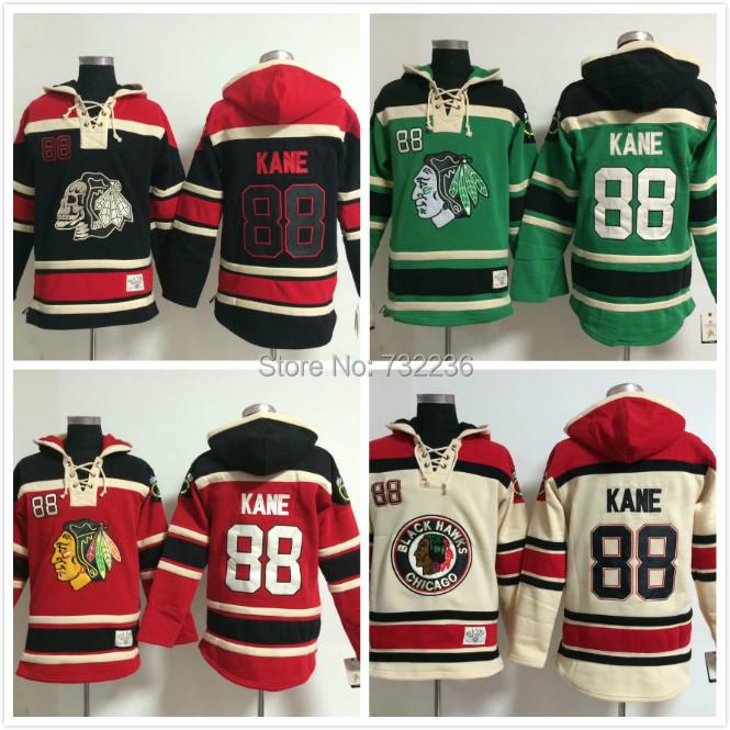 88 Patrick Kane Old Time Chicago Blackhawks  Hockey Hoodie Jersey Sweatshirt Jerseys, Stitched sewn Numbering Lettering.
