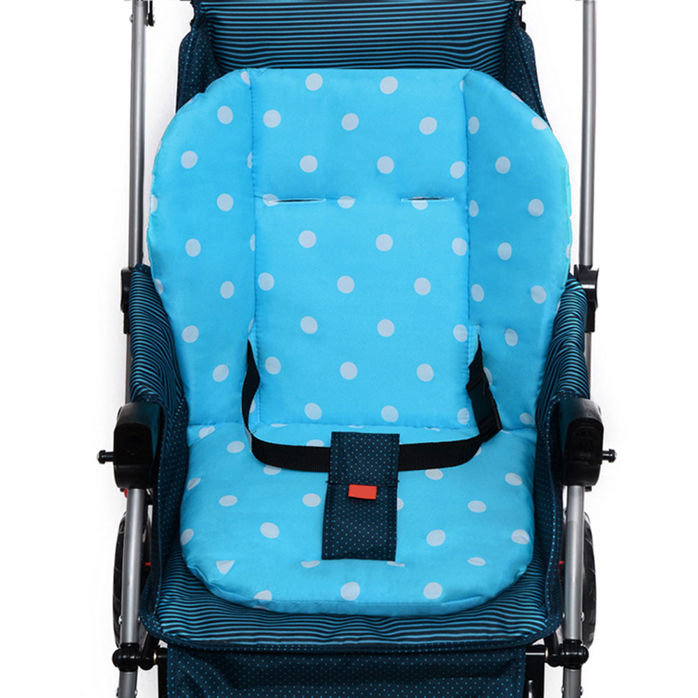 Thick Colorful Baby Infant Stroller Seat Pram Cushion Chair Baby Cart Seat Color Dot Cotton Mat Stroller Mat For Kids(China (Mainland))