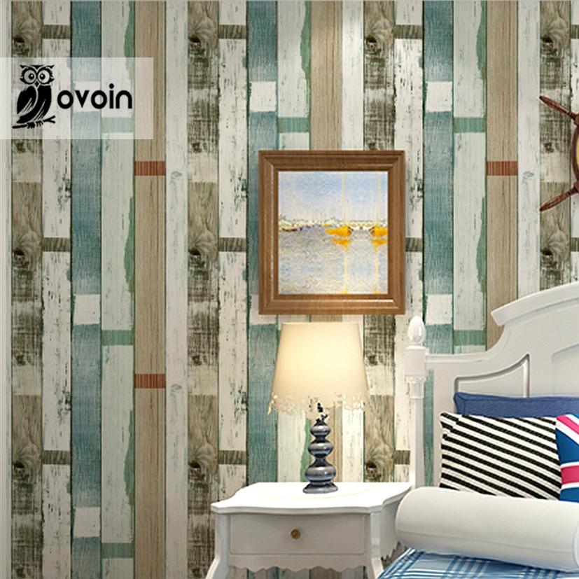 designer rustic embossed wood panel wallpaper vintage