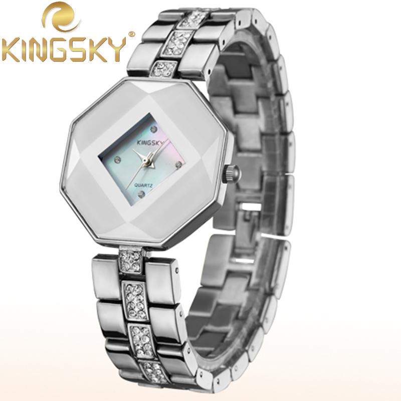 Lady Gift Shell Dial Quartz Watches KINGSKY Simple Watch Casual Black Watchband Luxury Quartz-watch Wristwatch HE5194<br><br>Aliexpress