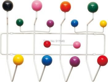 colorful wooden balls clothes hanger, coat rack, Eames Hang It All