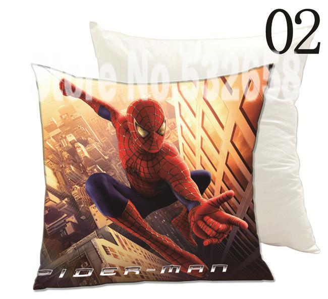spiderman 45*45 cushion cover hot sale creative spider-man cartoon cute throw pillow cover spider man cushion cover emoji pillow