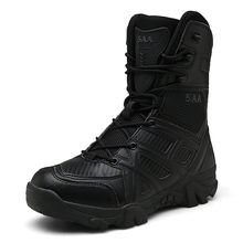 Gli Uomini di Alta Qualità di Marca di Cuoio Militare Stivali Vancat Forza Speciale Tattico Desert Combat Stivali da Uomo All'aperto Scarpe Stivali Alla Caviglia(China)