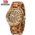 men s wooden watches2016 quartz wristwatches with sandalwood strap Calendar watch for man luxury brand wood