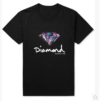 Tide brand personality Harajuku Star diamond T-shirt supply co Men's short sleeve(China (Mainland))