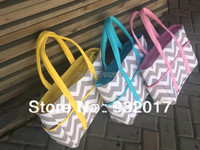 2014 new chevron diaper bags Chevron Diaper Bag Tote Nappy Bag Extra Large Gray and Aqua Grey,gray and pink,gray and blue