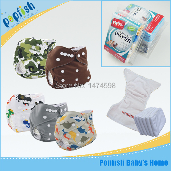 Free Shipping 5pcs/lot Gift Box Packing Reusable Fashion Pocket Baby Love Diapers Pants Baby Cloth Diaper Nappies(China (Mainland))