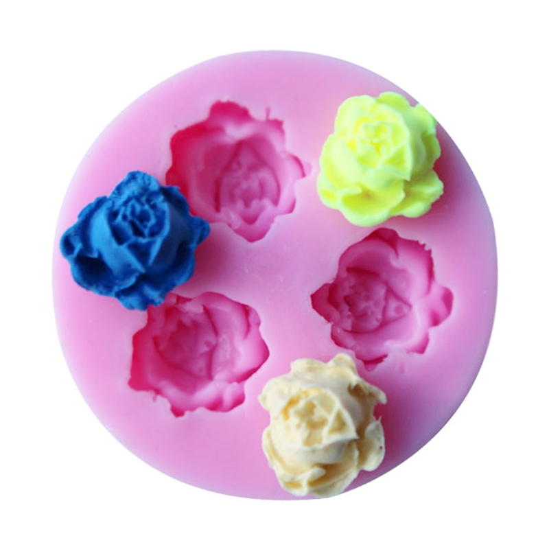Form For Baking Three Different Flowers Silicone Molds For Cakes, Silicone Form Moulds Decoration For Cake Polymer Clay Tools(China (Mainland))