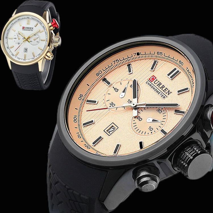 2015 NEW CURREN Luxury Analog Fashion MEN WATCH SPORT STYLE MEN MILITARY WRIST WATCH for MEN QUARTZ SWISSS ARMY quartz watches(China (Mainland))