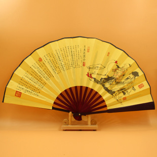 Freeshipping 3 pcs/lot bamboo wooden chinese hand fan landscape figure printed folding fan for bridal wedding and home decor(China (Mainland))