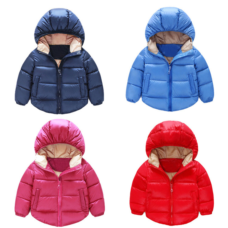 2017 New Winter Children's Down Jackets Baby Down Coat Boys Outerwear Cotton Child Fashion Hooded Clothes(China (Mainland))