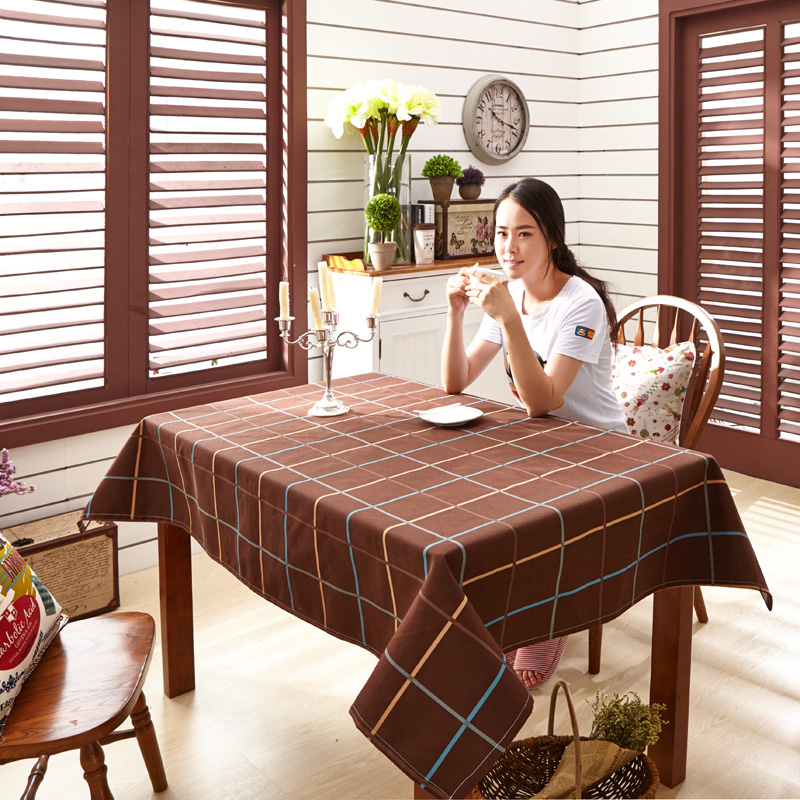 Paris Spring Geometry Cotton Elegant Table Cloths Dining Table Cover Bohemian Southeast Style Tablecloth High Quality(China (Mainland))
