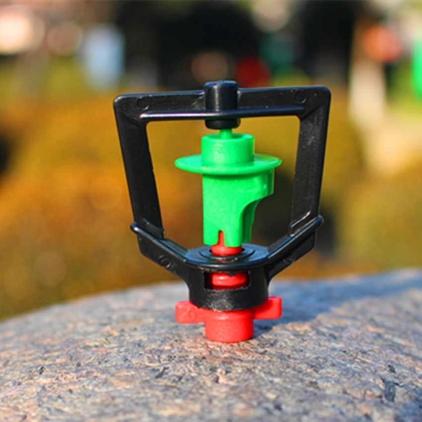 Greenhouse Water Saving Sprinkler With Barb Connector 360 Degree Rotating Misting Nozzle Small Drop Mist Drip and Micro(China (Mainland))