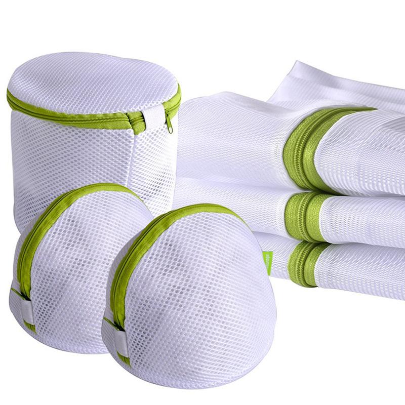 Enipate 6pcs/sets Laundry Bag Drawstring Bra Underwear Products Laundry Bags Useful Mesh Net Bra Wash Bag zipper Laundry Bag(China (Mainland))