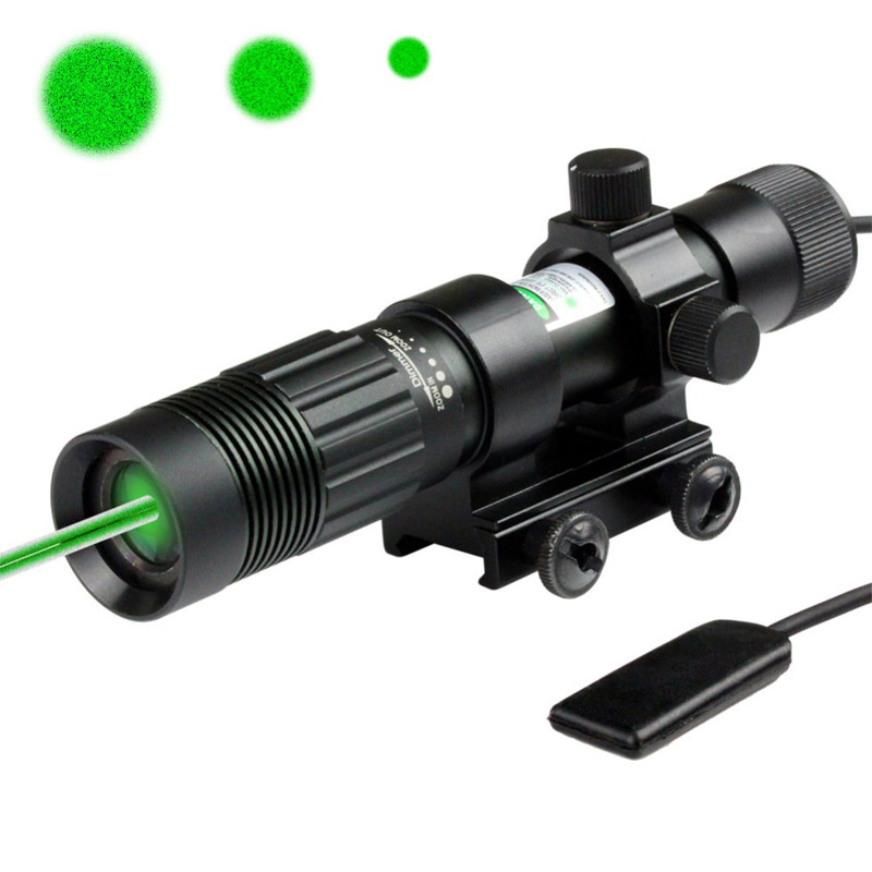 Top Quality SD05 Hunting Tactical Flashlight Green Laser Sight With Picatinny Rail Mount For Airsoft Rifle Gun(China (Mainland))