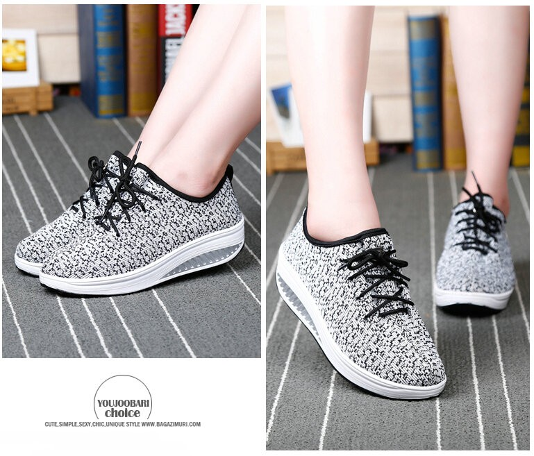 2016Women Spring/Summer Gingham Flat Platform Casual Shoes Women's Walking Shoes Woman 4.5cm Heels zapatillas deportivas mujer