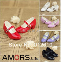 Cute Free match Leather Dance Shoes for BJD Doll 1/4 MSD,1/3 SD10,SD13  5 Colors Luts DOD AS DZ Doll Shoes