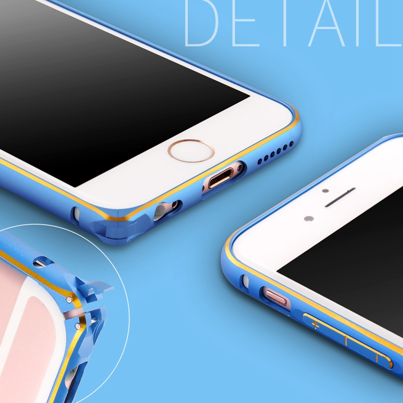 6S Metal Bumpers !!! Luxury Ultra Thin Aluminum Bumper For Iphone 6 6S 4.7inch Hard Phone Cases Covers With Buckle Carry Capa(China (Mainland))
