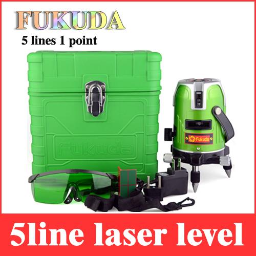 Fukuda 5 lines 1 point green laser level 360 rotary laser leveling line EK 468GJ cross