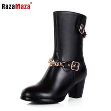 Envío libre media corta natural auténtico real de cuero botas de tacón alto de las mujeres de arranque nieve R5060 eur 31-45(China (Mainland))