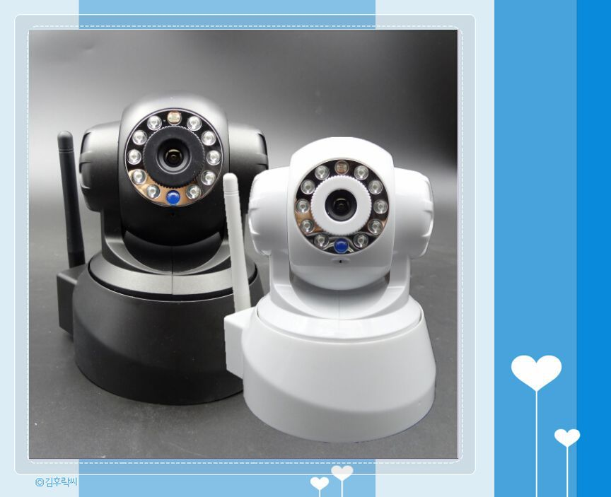 Easy to install p2p ip camera video wireless camera robot wireless ip camera free shipping(China (Mainland))