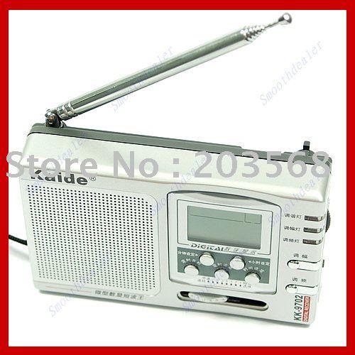 F98+Free shipping! FM MV SW High Sensitivity Mini Digital Multi Band Radio(China (Mainland))