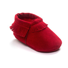 New PU Suede Leather Newborn Baby Boy Girl Baby Moccasins Soft Moccs Shoes Bebe Fringe Soft Soled Non-slip Footwear Crib Shoe(China (Mainland))