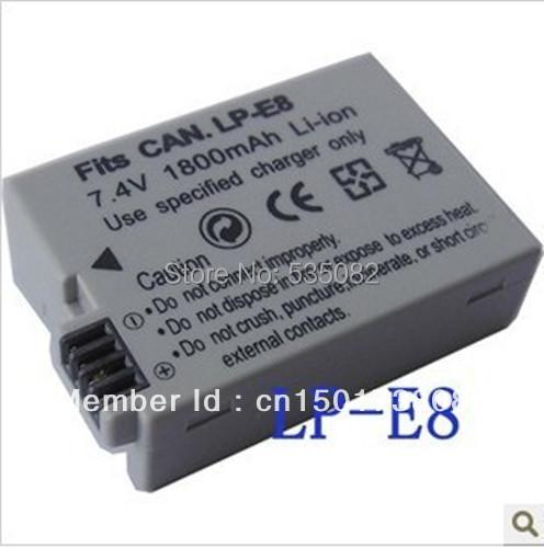 1800MAH Digital camera battery Canon EOS 600D 550D 650D 700D LP-E8 LC-E8C BG-E8 Rebel T2i / kiss X4 - Online Store 535082 store