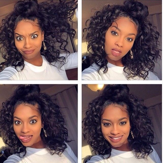 Фотография Full Lace Wig Virgin Brazilian Kinky Curly Lace Front Wig Unprocessed  Glueless Full Lace Wigs For Black Women
