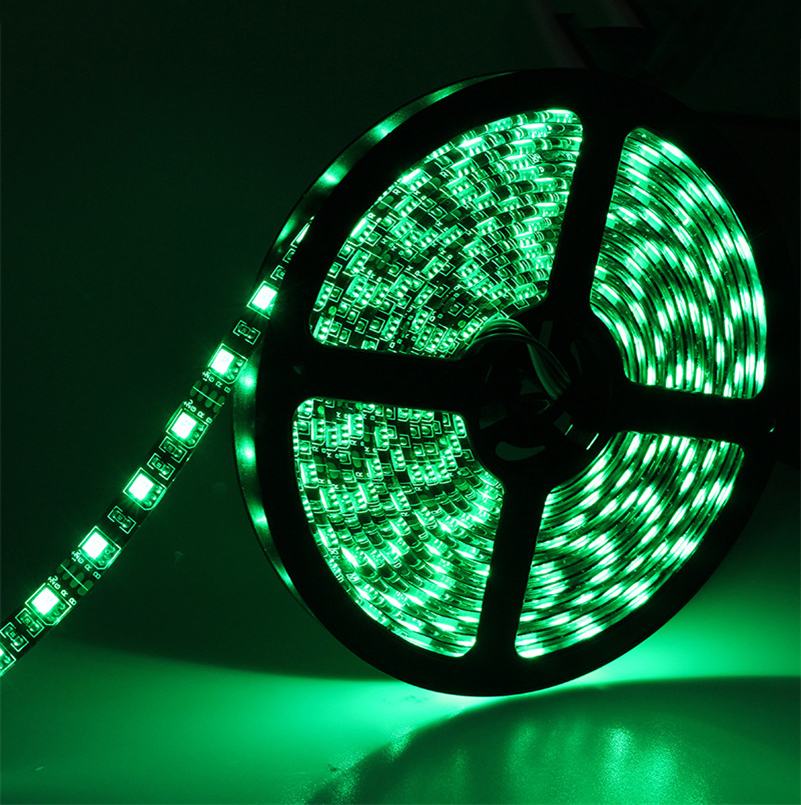 5050 Led strip IP65 waterproof DC12V with black PCB flexible strip led light 60led/M Car decoration light(China (Mainland))