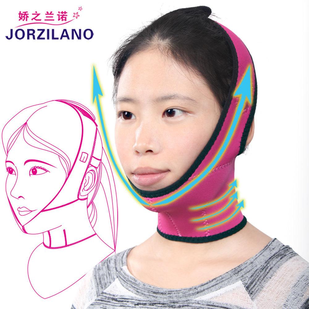 2015 New Massage Face Lift Slim Band Slimmer Neck Exerciser Chin Reduce Double Belt Mask Frontal Enhanced Health Care Slimming(China (Mainland))