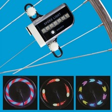 New Arrival Ultra Bright Gofuly 14 LED Motorcycle MTB Cycling Bicycle Bike Wheel Signal Tire Light 30 Changes Bike Accessories(China (Mainland))